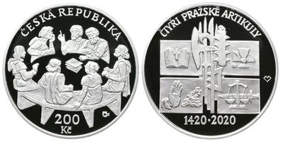 200 Kč 2020 - 600. výročí vdání čtyř pražských artikulů, PROOF