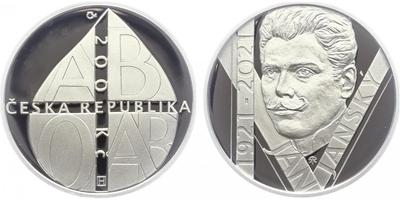 200 Kč 2021 - 150. výročí úmrtí Jana Janského, PROOF