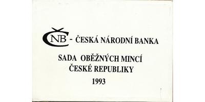 Ročníková sada mincí 1993, mincovna Hamburg, Winnipeg, Jablonec