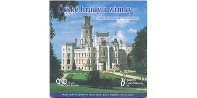Ročníková sada mincí 2002 - České hrady a zámky