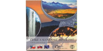 Ročníková sada mincí 2007 - České a slovenské mince