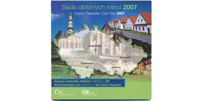 Ročníková sada mincí 2007 - Seznam světového děfdictví UNESCO v ČR