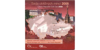 Ročníková sada mincí 2008 - Seznam světového děfdictví UNESCO v ČR