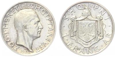 Frang ar 1937, Ag 0,835, 23 mm (5 g)