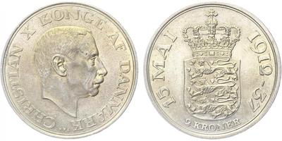 2 Kroner 1958 - 18. narozeniny princezny Margarety, Ag 0,800, 31 mm (15,0 g)