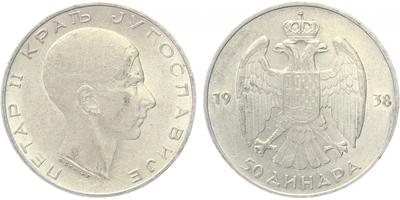 50 Dinar 1938