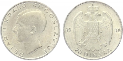 20 Dinar 1938