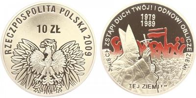 10 Zlotý 2009 - Volby 1989 / Papež Jan Pavel II.