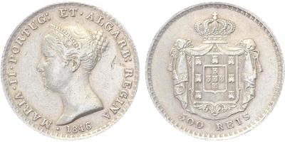 500 Reis 1846, raženo pouze (74.000 ks), Ag 0,917, 30 mm (14,8 g)