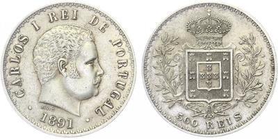 500 Reis, Ag 0,917, 30,5 mm (12,5 g)
