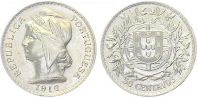 10 Centavos 1915, Ag 0,835, 19,5 mm (2,5 g)