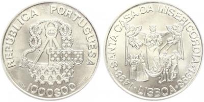 1000 Escudos 1998 - 500. výročí svatého domu milosrdenství, běžná kvalita
