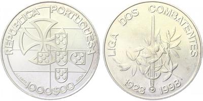 1000 Escudos 1998 - 75. výročí Ligy bojovníků, běžná kvalita