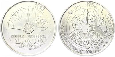 1000 Escudos 1998 - Mezinárodní rok oceánů - EXPO 98, běžná kvalita