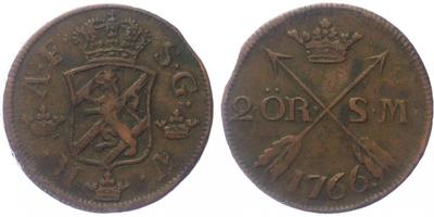 2 Öre 1766