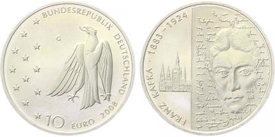10 Euro 2008 - Franz Kafka, běžná kvalita