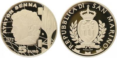 San Marino, 5 Euro 2014 - Ayrton Senna, PROOF