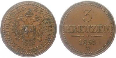 3 Krejcar 1851 B