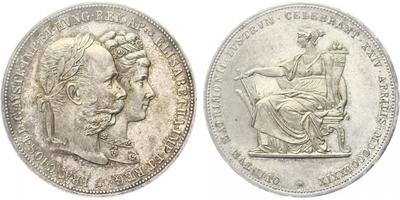 2 zlatník 1879, stříbrná svatba