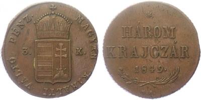 3 Krejcar 1849 NB