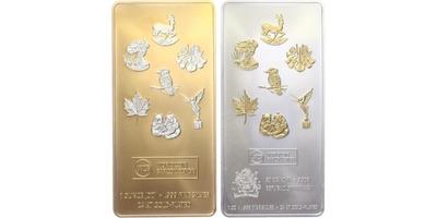 Investiční slitek, World Coin Bar Collection, zlaceno