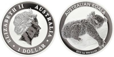1 Dollar 2012 - Koala, Ag 0,999 (31,10 g), 1 Oz, PROOF