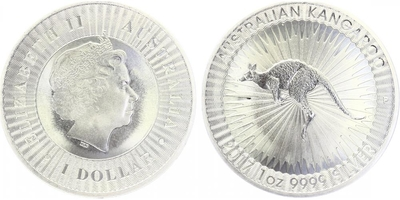 1 Dollar 2017 - Kangaroo, Ag 0,999 (31,10 g), 1 Oz, PROOF