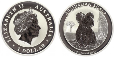 1 Dollar 2017 - Koala, Ag 0,999 (31,10 g), 1 Oz, PROOF