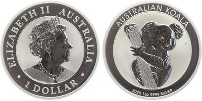 1 Dollar 2020 - Koala, Ag 0,999 (31,10 g), 1 Oz, PROOF