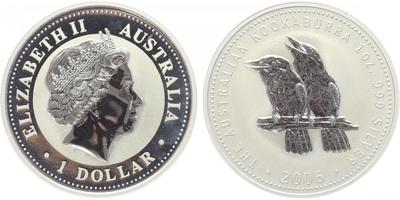 1 Dollar 2006 - Kookaburra, PROOF
