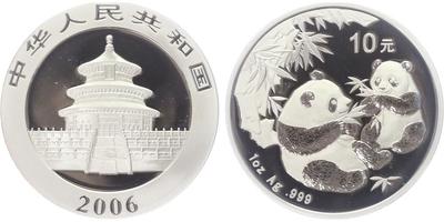 Čína, 10 Jüan 2006 - Panda, 1 Oz, PROOF