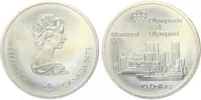 10 Dollar 1973 - Olympiáda Montreal 1976, Ag 0,925 (48,60 g)