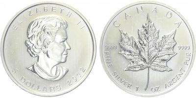 Maple Leaf, 5 Dollar 2012