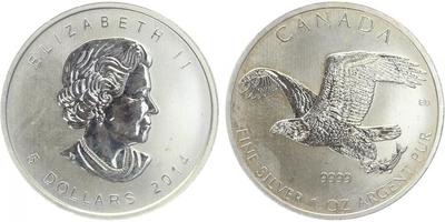 5 Dollar 2014, Ag 0,9999 (31,1 g)