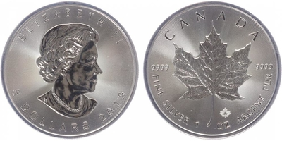 Maple Leaf, 5 Dollar 2019