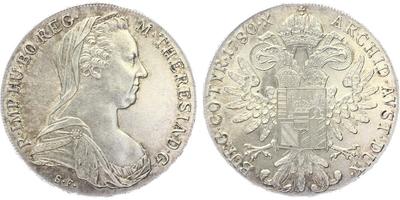 Marie Terezie - Tolar 1780, novoražba
