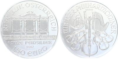 1,50 Euro 2017 - Vídeňská filharmonie, Ag 0,999 (31,105 g)