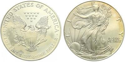 USA, 1 Dollar 1999 - Liberty, Ag 0,9993 (31,101 g), 1 Oz