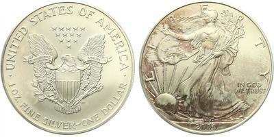USA, 1 Dollar 2000 - Liberty, Ag 0,9993 (31,101 g), 1 Oz