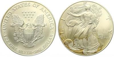 USA, 1 Dollar 2002 - Liberty, Ag 0,9993 (31,101 g), 1 Oz