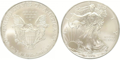 USA, 1 Dollar 2009 - Liberty, Ag 0,999 (31,1 g), 1 Oz