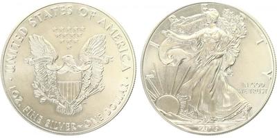 USA, 1 Dollar 2016 - Liberty, Ag 0,9993 (31,101 g), 1 Oz