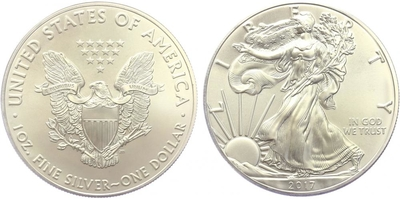 USA, 1 Dollar 2016 - Liberty, Ag 0,9993 (31,101 g), 1 Oz