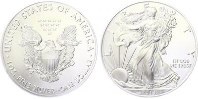 USA, 1 Dollar 2018 - Liberty, Ag 0,9993 (31,101 g), 1 Oz