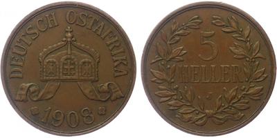 5 Haléř 1908 J