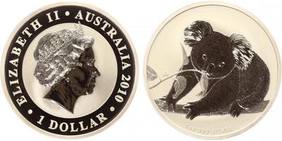 1 Dollar 2010 - Koala, Ag 0,999 (31,10 g), 1 Oz, PROOF