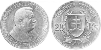 20 Sk 1939 - Dr. Jozef Tiso, ke zvolení prvním prezidentem Slovenské republiky