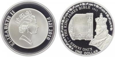 Dolar 2010 - Bible krále Jakuba 1611, PROOF