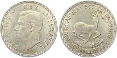 5 Shilling 1947 - JIří VI.