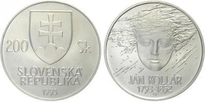 200 Sk 1993 - Ján Kollár, bežná kvalita